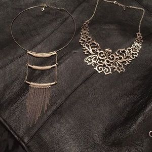 Two silver necklaces beautiful pieces
